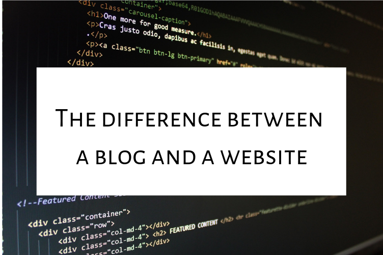 What is the difference between a blog and a website?
