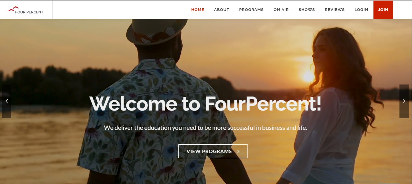 Fourpercent.com - difference between a blog and a website