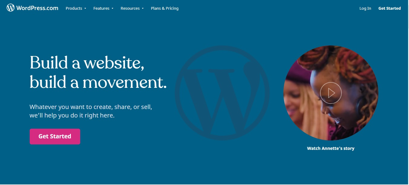 wordpress.com - difference between a blog and a website